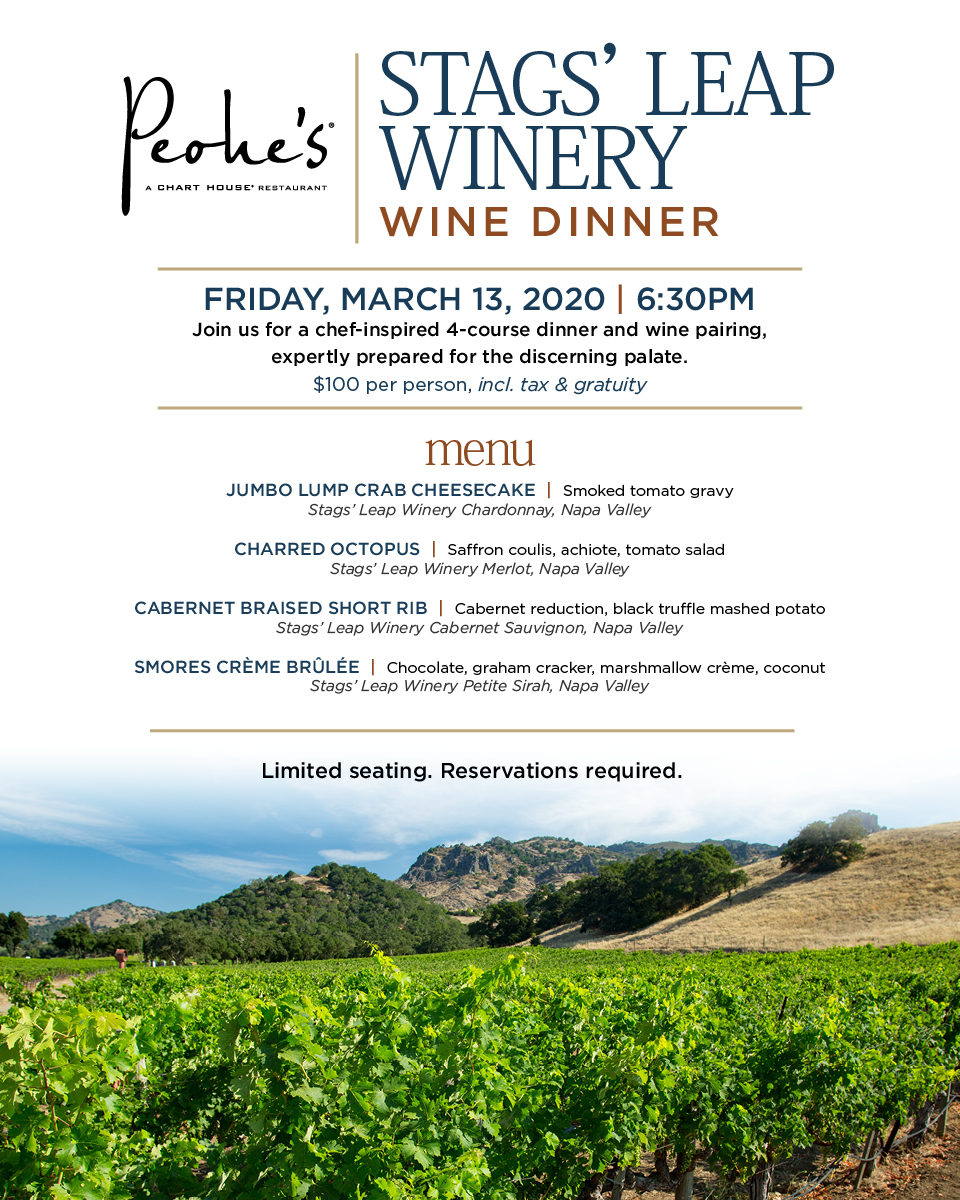 Stags' Leap Winery Wine Dinner.
